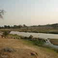 Aussicht vom Bandas auf den Ruaha River
