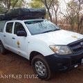 Unser Reisemobil für die nächsten 20 Tage (Toyota Hilux)
