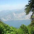 1400 Meter da unten ist der Gardasee