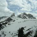 Schnee, Ende Mai in den Dolomiten
