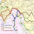 5 Tage in Slowenien/Kroatien/Istrien .... ca. 2000 km unterwegs