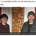 MetalloTextile, projet d'art de Natalie Magnin et de David Vanorbeek, artistes en France