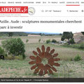 Création Parc de Sculptures Minervois Corbières Vanorbeek sculpteur