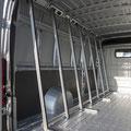 Pupitre Porte verre intérieur en Alu sur fourgon utilitaire EAS auto