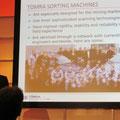 Jens-Michael Bergmann of TOMRA presents a paper on sensor based sorting.