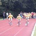 Einrad-Rennen