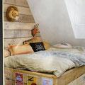 Steigerhout bed voor de kinderkamer