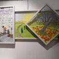 L'attente, 2012, 63 x 113 cm (dimensions globales, trois tableaux en un)