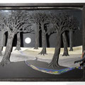 Le voleur de couleurs, 2013, 59 x 76 x 12 cm, lumière intégrée