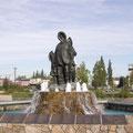 Fairbanks - Denkmal für die erste unbekannte Familie hier im Norden