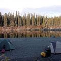 schöne Campplätze werden immer seltener je weiter wir nach Süden kommen