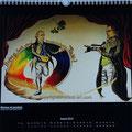 """Kalender 2014- August """"Weimar ist berühmt"""" mit Acryl auf Leinwand 2013"""