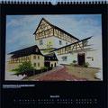 """Kalender 2014- März """"Fachwerkhaus"""" mit Acryl auf Leinwand 2012"""