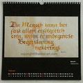 """Kalender 2020- Februar """"Spruch""""...Kalligrafie 2015"""