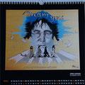 """Kalender 2016- März """"John Lennon"""" mit Acryl 2015"""