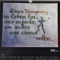 """Kalender 2017- Juni """"Spruch"""" mit Kalligrafie 2013"""