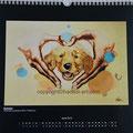 """Kalender 2013- April """"Behütet"""" mit Acryl auf Leinwand 2012"""