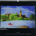 """Kalender 2013- Juni """"Schweriner Schloss"""" mit Öl auf Leinwand 2010"""