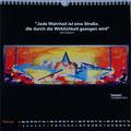 "Kalender 2015- Februar ""Impulse"" mit Acryl auf Leinwand 2014"