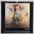 """Kalender 2021- April """"Schwere Zeiten""""...Ölfarbe auf Leinwand 2020"""