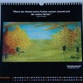 """Kalender 2015- November """"Herbstlandschaft"""" mit Pastellkreide 2014"""