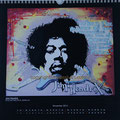 "Kalender 2013- November ""Jimi Hendrix"" mit Acryl auf Holz 2012"