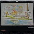 "Kalender 2017- September ""Bauhaus Museum"" mit Aquarell 2016"