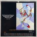 "Kalender 2021- März ""Gewusel""...Ölfarbe auf Leinwand 2020"