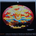 """Kalender 2015- September """"Füreinanderdasein"""" mit Acryl auf Leinwand 2014"""