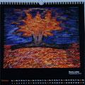 "Kalender 2016- Oktober ""Neues Leben"" mit Pastellkreide 2015"