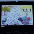 "Kalender 2014- Februar ""Gedanken"" mit Aquarell 2013"