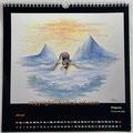 """Kalender 2021- Januar """"Pinguine""""...Ölfarbe auf Holz 2020"""