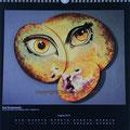 """Kalender 2013- August """"Drei Komponente"""" mit Acryl auf 3 Leinwänden 2012"""