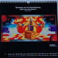 """Kalender 2015- Juli """"Der Stich"""" mit Acryl auf Leinwand 2014"""
