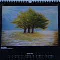 """Kalender 2014- Oktober """"Die Familie"""" mit Pastellkreide 2013"""