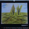 """Kalender 2016- Juli """"Der gemeinsame Weg"""" mit Pastellkreide 2015"""