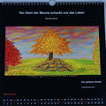 "Kalender 2018- November ""Der goldene Herbst"" mit Pastellkreide 2014"