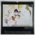 "Kalender 2021- Juni ""Berühmtheiten unvollendet""...Copic, Buntstifte 2009"