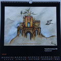 "Kalender 2018- Januar ""Tempelherrenhaus Weimar"" mit Pastellkreide 2017"