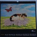 """Kalender 2015- Januar """"Mia"""" mit Öl auf Holz 2014"""