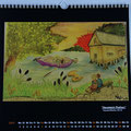 "Kalender 2015- Juni ""Hausteich Plothen"" mit Aquarell 2014"
