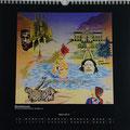 "Kalender 2013- März ""Barcelona pur"" mit Öl auf Leinwand 2012"