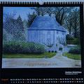 """Kalender 2016- August """"Goethes Gartenhaus"""" mit Pastellkreide 2015"""