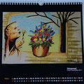 """Kalender 2015- März """"Erinnerung"""" mit Copic/Touch 2011"""
