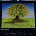 """Kalender 2014- April """"Einsamer Baum"""" mit Pastellkreide 2013"""