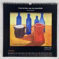 """Kalender 2021- November """"Stillleben""""...Ölfarbe auf Pappe 2009"""