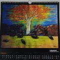 "Kalender 2017- Oktober ""Lebenskraft"" mit Pastellkreide 2016"