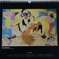 """Kalender 2013- Mai """"Intime Aussage"""" mit Acryl auf Holz 2012"""