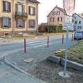 Sécurisation de la sortie de la rue Henri Dorey sur la départementale - Mardi 20 mars 2012