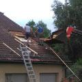 2016 - Ouverture du toit pour la nouvelle classe. Entreprise Schad de Suarce.
